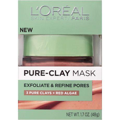L'Oreal Paris Pure-Clay Masque nettoyant avec 3 Argiles Minérales + Algues Rouges pour Peau Rugueuse - image 2 de 7