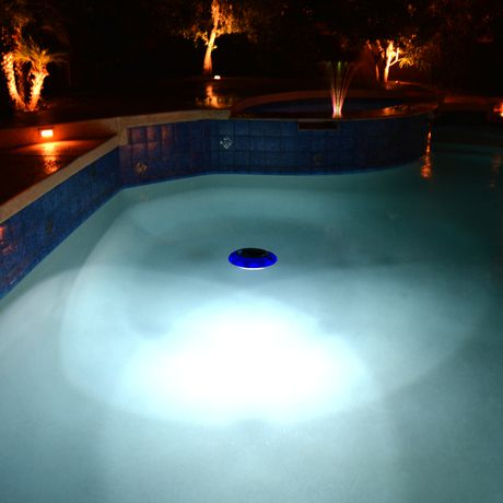Blue wave evolution floating led solar pool light for Pool light show walmart