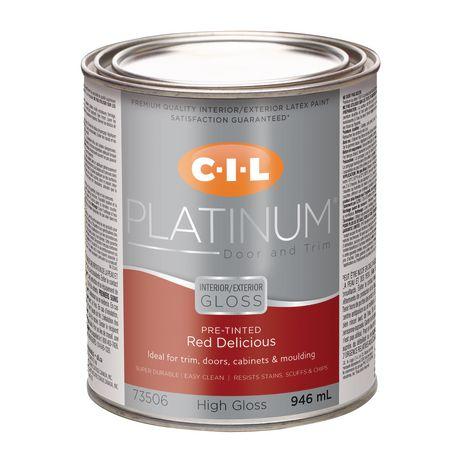 Cil platinum interior exterior high gloss door trim for Gloss paint for trim