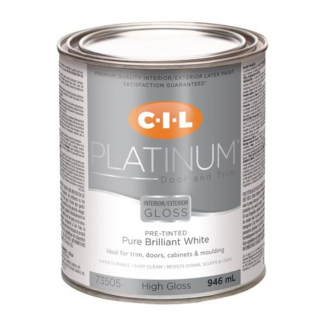 Cil Platinum Interior Exterior High Gloss Door Trim Paint Pre Tinted White Walmart Canada