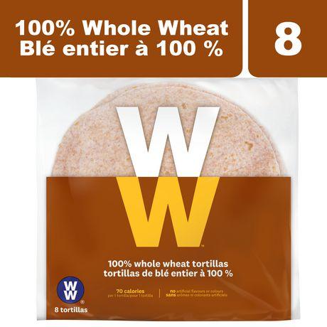 weight watchers 100 whole wheat tortillas walmart canada