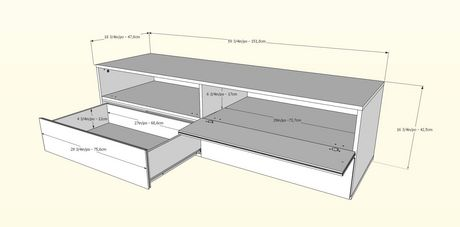 Trilogy 60-inch TV Stand, White & Natural Maple - image 3 of 4