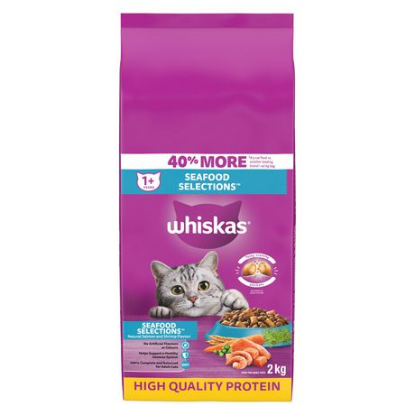 Whiskas Real Salmon Dry Adult Seafood Selections for CAT - image 1 of 7