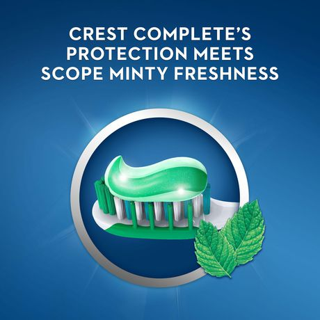 Crest + Scope Complete Whitening Toothpaste, Minty Fresh - image 4 of 7