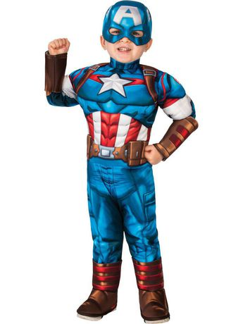 Super Hero Adventures Captain America Deluxe Toddler Costume - image 1 of 1