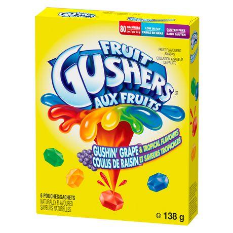 Fruit Gushers by Betty Crocker Gluten Free Gushin' Grape and Tropical  Flavours   Walmart Canada