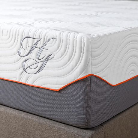 Hotel Style 12 Inch Cooling Memory Foam Hybrid Icoil Spring Mattress - image 2 of 9