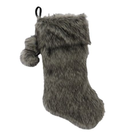 Holiday time Faux Fur Stocking - image 1 of 1