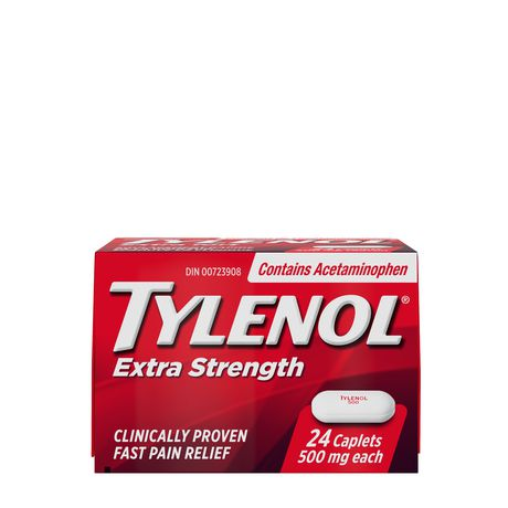 Tylenol Extra Strength Pain Reliever Caplets, 24 Caplets - image 1 of 7