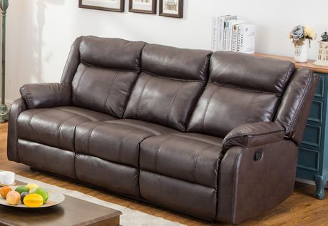 Topline Home Furnishings Brown Motion Sofa