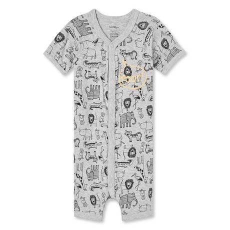 George Baby Boys' Short Sleeve Romper - image 1 of 2