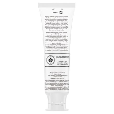 Burt's Bees Toothpaste with Fluoride, Enamel Care, Mountain Mint - image 2 of 9