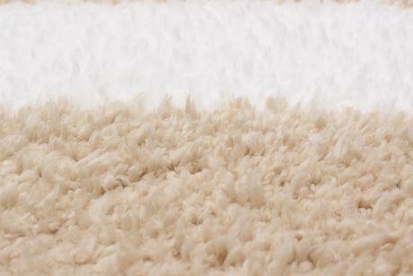 """Tapis Shag Soho crème beige en poly 5'4"""" x 7'0"""" - image 2 de 3"""