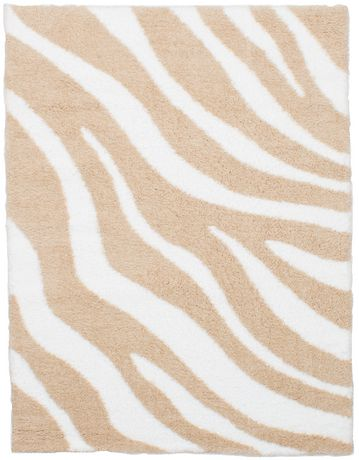 """Tapis Shag Soho crème beige en poly 5'4"""" x 7'0"""" - image 1 de 3"""