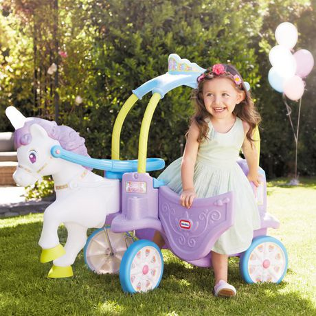 Little Tikes Magical Unicorn Carriage Ride-On - image 5 of 6
