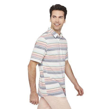 George Men's Printed Cuffed Shirt - image 2 of 6