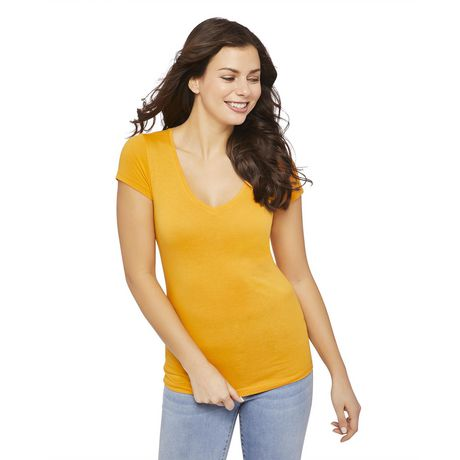 George Women's Short Sleeve V-Neck Tee - image 1 of 6