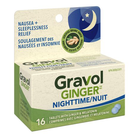 Gravol Ginger Nighttime Tablets with Melatonin - image 2 of 4
