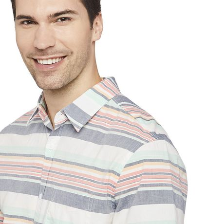 George Men's Printed Cuffed Shirt - image 4 of 6