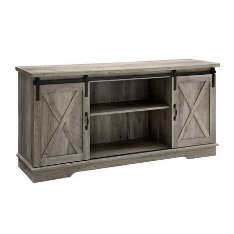 Manor Park 58 Quot Modern Farmhouse Sliding Barn Door Tv Stand