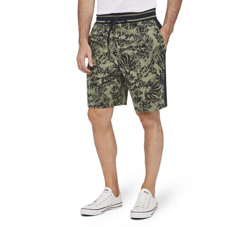 George Men's Printed Side Stripe Jogger Shorts - image 1 of 6