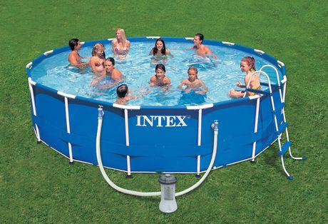 intex 15 x 42 metal frame pool walmartca