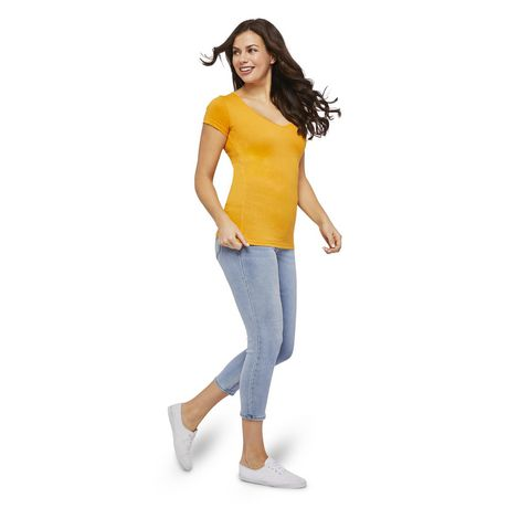 George Women's Short Sleeve V-Neck Tee - image 5 of 6