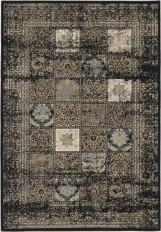 "eCarpetGallery Shahrzad Versailles Black Poly Rug 5'3"" X 7'7"" - image 2 of 4"