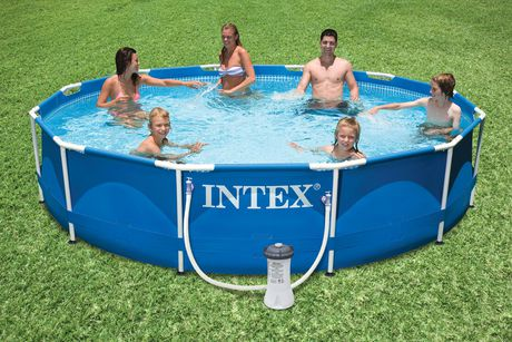 Intex Development Co Ltd Intex 12 X 30 Quot Metal Frame Above Ground Pool With Filter Pump
