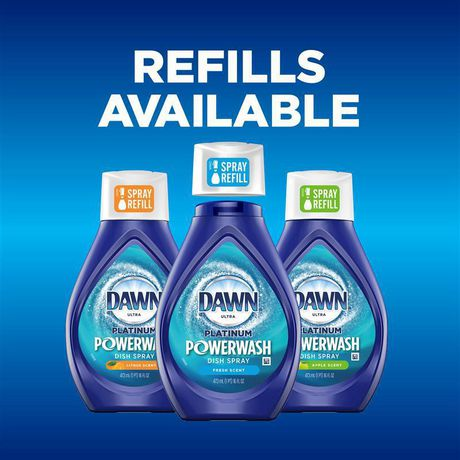 Dawn Platinum Powerwash Dish Spray Refill, Dish Soap, Fresh Scent - image 6 of 9