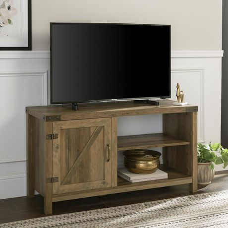 """Manor Park Modern Farmhouse Barn Door TV Stand for TV's up to 48"""" - Multiple Finishes - image 1 of 7"""