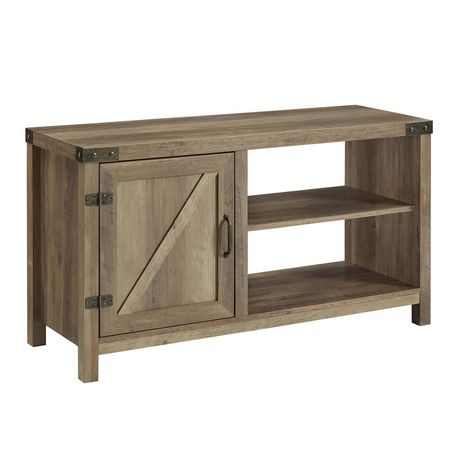 """Manor Park Modern Farmhouse Barn Door TV Stand for TV's up to 48"""" - Multiple Finishes - image 3 of 7"""