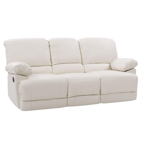 CorLiving Lea Reclining Bonded Leather 3 Piece Sofa Set - image 7 of 9