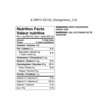 Great Value No Pulp from Concentrate Orange Juice 2.5L - image 2 of 2