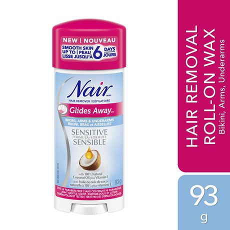 Nair Glides Away Sensitive Formula Hair Remover for Bikini, Arms & Underarms with 100% Natural Coconut Oil plus Vitamin E - image 1 of 5
