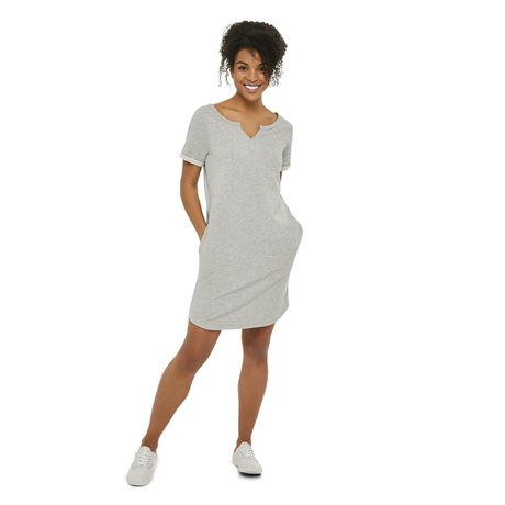 George Women's Melange French Terry Dress Grey Xl WalMart Canada