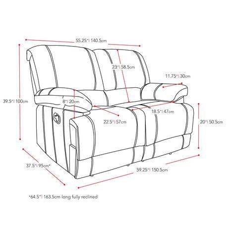 Corliving lea reclining black bonded leather 2 piece sofa - Walmart canada furniture living room ...