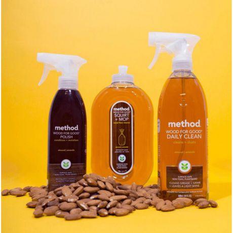 Method Squirt Mop Wood Floor Cleaner Almond 739 Ml
