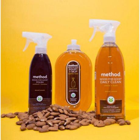 Method Squirt Mop Wood Floor Cleaner Almond 739 Ml Walmart Canada