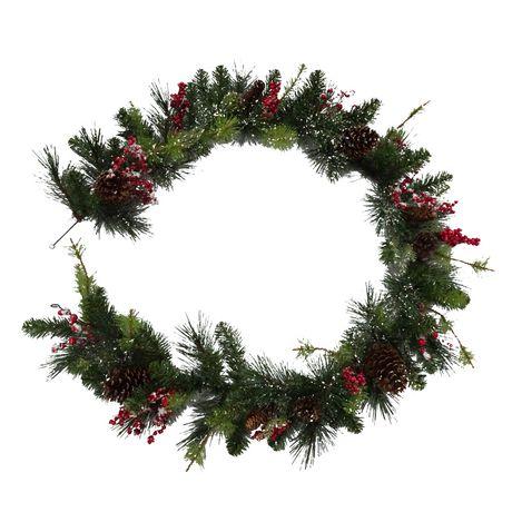 Guirlande à mélange de houx et baie Holiday time - image 1 de 1