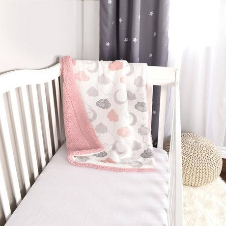 Baby S First By Nemcor Ultimate Sherpa Baby Blanket Pink