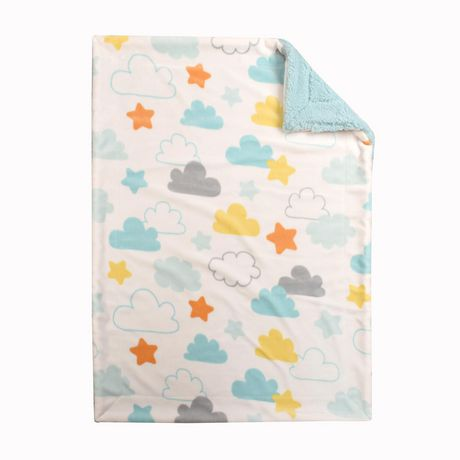 Baby S First By Nemcor Ultimate Sherpa Baby Blanket Blue
