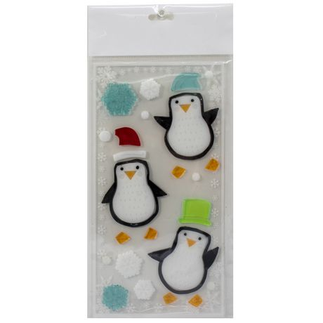 Holiday time Penguin Gel Clings - image 1 of 1