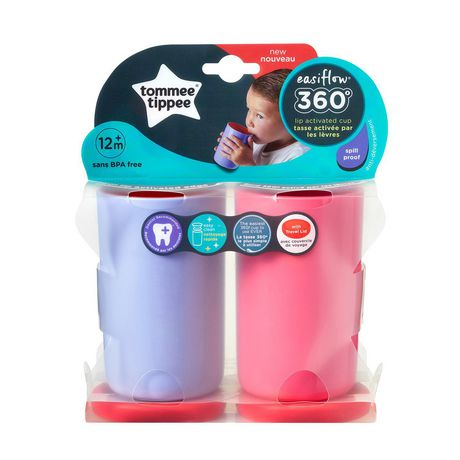 Tommee Tippee Easiflow 360° Spill-Proof Cup with Travel Lid, Lavender & Cherry – 8oz, 12m+, 2pk - image 9 of 9