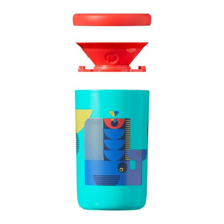 TommeeTippeeEasiflow360° Spill-Proof Cup with Travel Lid, Aqua&Teal –8oz, 12m+, 2pk - image 4 of 9