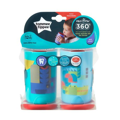 Tommee Tippee Easiflow 360° Spill-Proof Cup with Travel Lid, Whale & Crocodile – 8oz, 12m+, 2pk - image 9 of 9