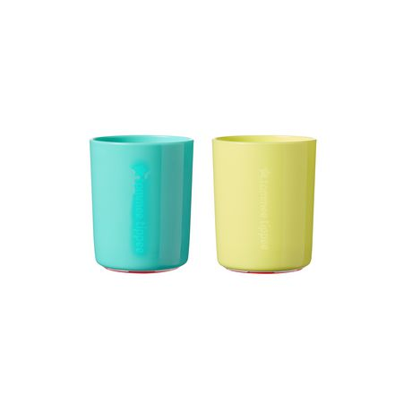 Tommee Tippee No Knock™ Toddler Cup, Aqua & Yellow – 6oz, 12m+, 2pk - image 1 of 8