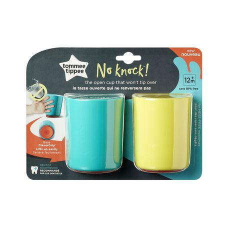 Tommee Tippee No Knock™ Toddler Cup, Aqua & Yellow – 6oz, 12m+, 2pk - image 8 of 8