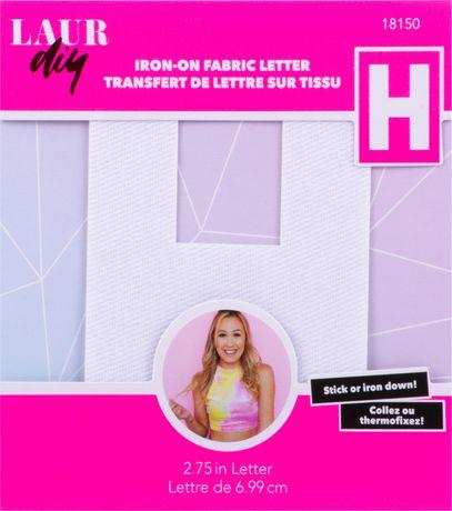 LaurDIY Fabric Iron on Letter - H - image 1 of 1