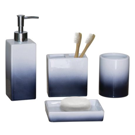 hometrends 4-piece Bath Accessories Set - Blue Ombre - image 1 of 1